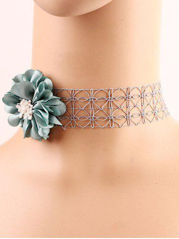 Affordable Ribbon Flower Lace Choker Necklace
