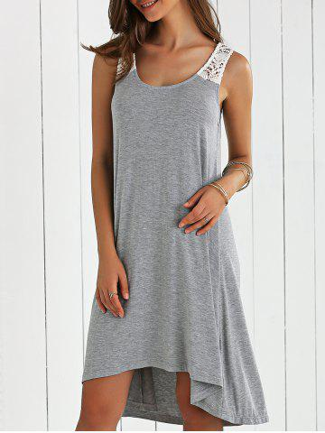 Sale Hollow Out Smock Dress