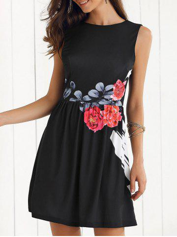 Affordable Sleeveless Floral Dress
