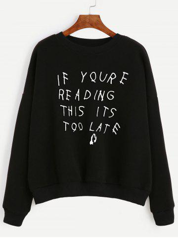 Trendy Long Sleeve Letter Pattern Sweatshirt