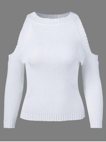 Cheap Jewel Neck Long Sleeve Hollow Out Knitwear