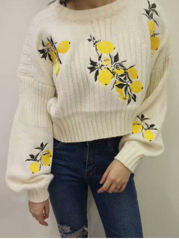 Fancy Lemon Print Long Sleeve Knitwear