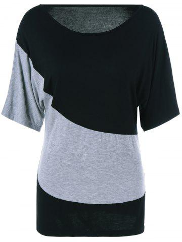 Fashion Color Block Comfy T-Shirt