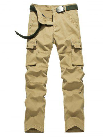 Best Plus Size Zipper Fly Flap Pockets Design Cargo Pants