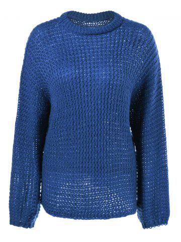 Store Crochet Long Sleeve Round Neck Knitwear