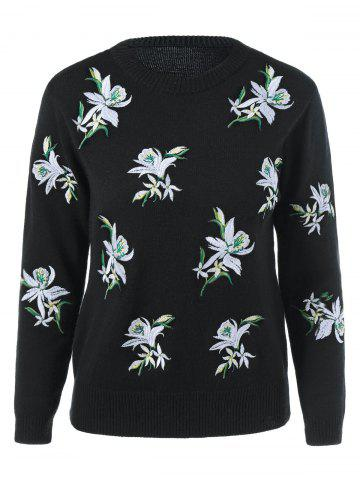 Sale Crochet Floral Embroidery Knitwear