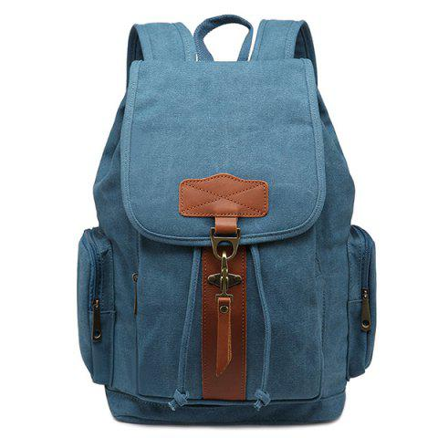 Affordable Zippers Color Block Drawstring Backpack