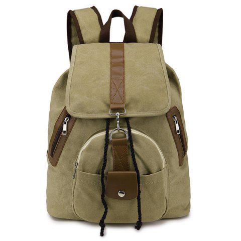 Discount Drawstring Snap Canvas Backpack