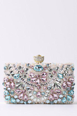 Best Rhinestone Beading Chains Evening Bag PINK