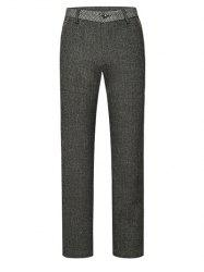 Texture Zipper Fly Zigzag Belt Loop Pants ODM Designer - GRAY