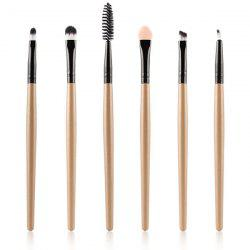 6 Pcs Nylon Eye Makeup Brushes Set