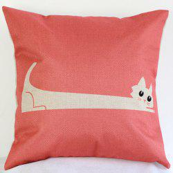 Rustic Cartoon Red Kitty Sofa Bed Pillow Case -