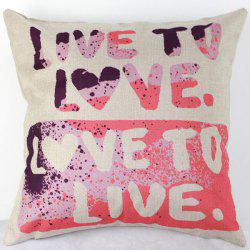 Live to Love Letters Sofa Bed Pillow Case