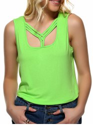 Strappy Candy Color Tank Top