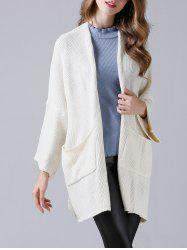 Drop Shoulder Twin Pocket Loose Cardigan -