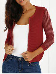 Zip Up Striped Cardigan -
