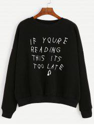 Long Sleeve Letter Pattern Sweatshirt -