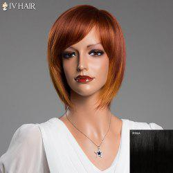 Short Straight Side Bang Bob Siv Real Natural Hair Wig
