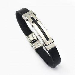 Cross Rubber Bracelet