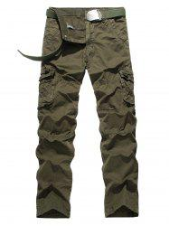 Plus Size Straight Leg Pockets Design Cargo Pants