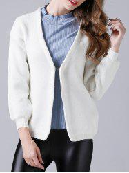Drop Shoulder Short Cardigan