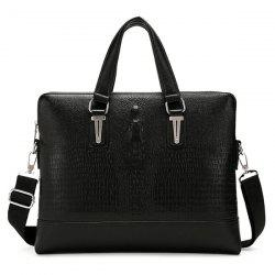 Metal Embossing Dark Colour Briefcase