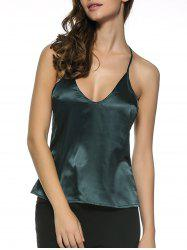 Zip Open Back Tank Top -
