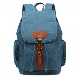 Zippers Color Block Drawstring Backpack -