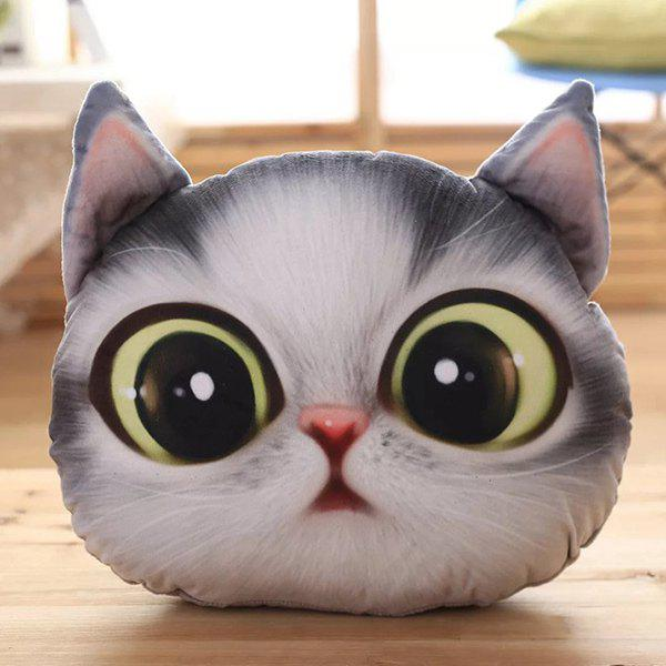 Affordable 3D Big Eyes Cathead Shape Cartoon Detachable Sofa Pillow