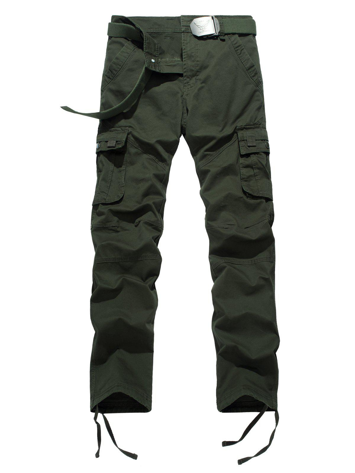 dcbfd9f2276 2019 Plus Size Zipper Fly Pockets Design Drawstring Cargo Pants ...