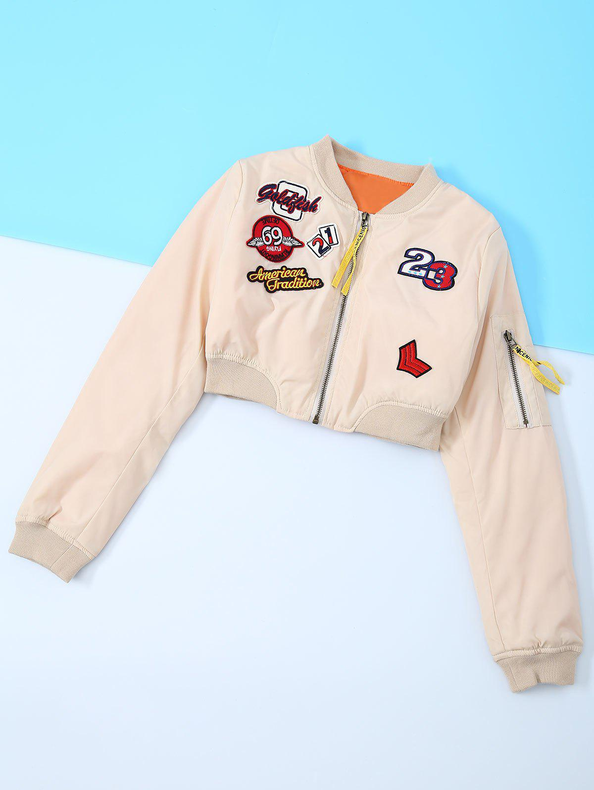 New Appliques Embroidery Long Sleeve Jacket