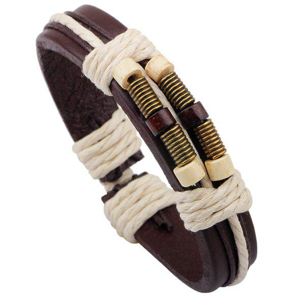 Hot Rope Decorated Faux Leather Bracelet