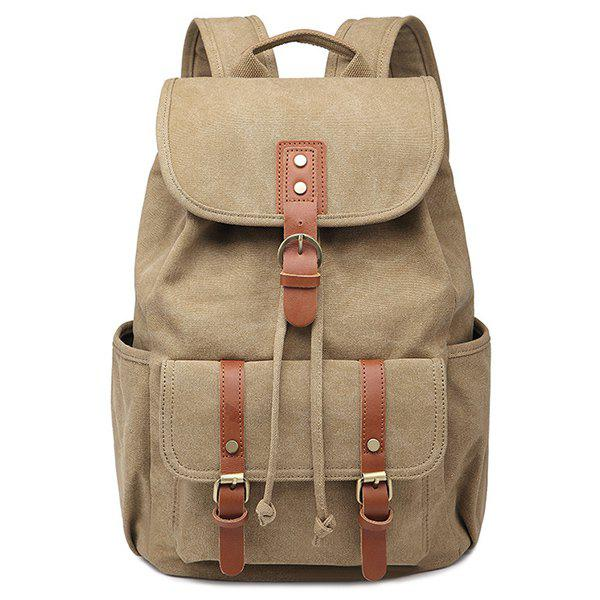 Buy Drawstring Buckles Canvas Backpack