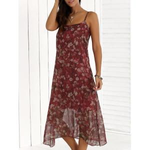 Floral Chiffon Midi Slip Summer Dress