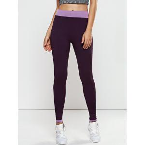 Quick -Dry Yoga Leggings Pants - Purple - M