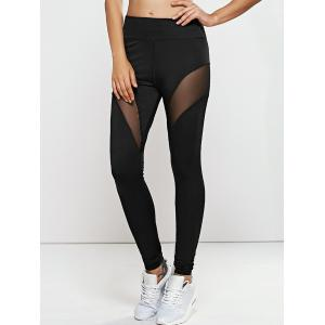 Quick -Dry Yoga Leggings Pants with Mesh