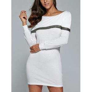 Long Sleeve Mini Tunic Fitted Dress