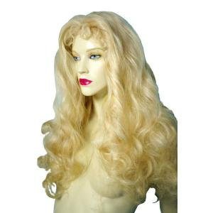 Long Fluffy Wavy Middle Part Synthetic Capless Wig