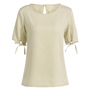 Split Sleeve Cut Out T-Shirt