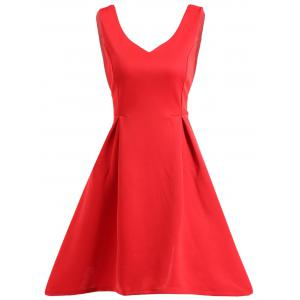 Sleeveless Fit and Flare Work Mini Dress