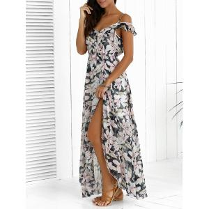 Floral Maxi Chiffon Beach Dress with Slit