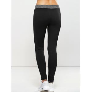 Quick -Dry Yoga Leggings Pants - BLACK L