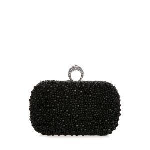 Metal Trimmed  Beading Evening Clutch