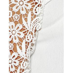 Laciness Cutwork Crossover Backless T-Shirt -