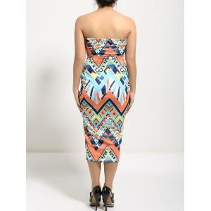 Slimming Geometric Print Tube Dress -