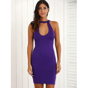 Hollow Out Open Back Bodycon Dress -