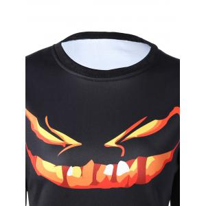 Long Sleeve Cartoon Print Sweatshirt - BLACK XL
