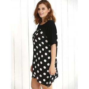 Plus Size Polka Dot Baggy Dress -