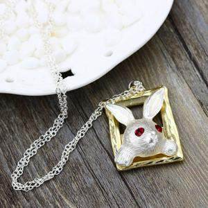 Rabbit Faux Ruby Sweater Chain -