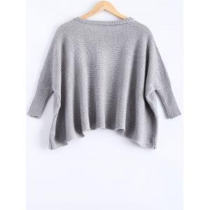 Crew Neck Batwing Sleeve Pullover Sweater -